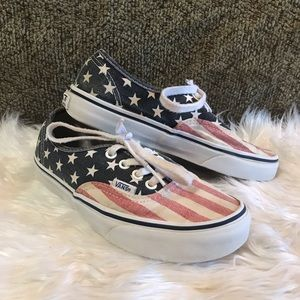 VANS Van Doren Stars & Stripes Skate Shoe US Flag
